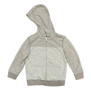 Old Navy Grey Light Cotton Zip Up Hoodie